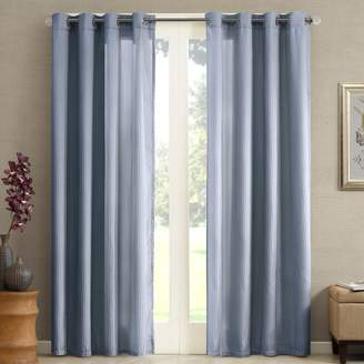 Solid & Striped Madison Park Marin Solid Striped Window Curtain - 50'' x 84''