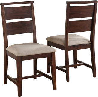 Modus Designs Furniture Set Of Two Portland Solid Wood Dining Chairs