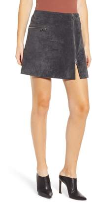Blank NYC BLANKNYC A-Line Suede Miniskirt