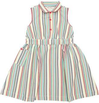 Striped Woven Cotton Dress