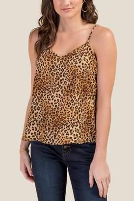 francesca's Desiree Leopard Swing Tank Top - Tan