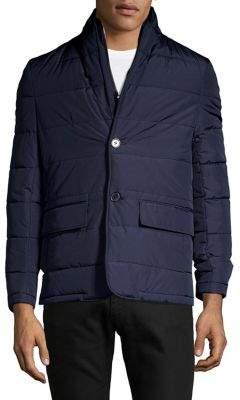 Black & Brown Black Brown Quilted Long-Sleeve Jacket