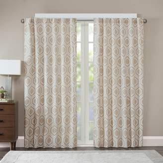 Madison Park 1-Panel Leada Metallic Jacquard Window Curtain