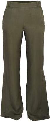 Blonde Gone Rogue Flared Sustainable Trousers In Green