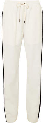 Burberry Striped Silk And Wool-blend Track Pants - Ivory
