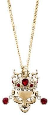 Alexander McQueen Royal Skull Pendant Necklace