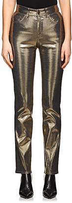 Fiorucci Women's Yves Metallic Cigarette Straight Jeans