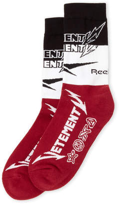 Vetements x Reebok Metal Logo Intarsia Socks