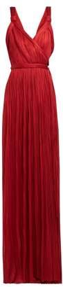 Maria Lucia Hohan Amena Plisse Tulle Wrap Dress - Womens - Red