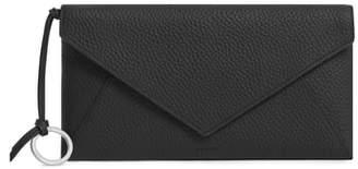 AllSaints Voltaire Large Envelope Leather Clutch
