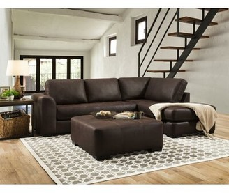 Loon Peak Prou Right Hand Facing Sofa and Chaise Sectional with Ottoman Loon Peak