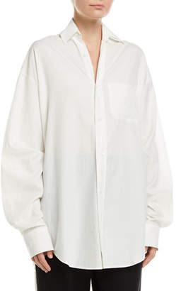 45042f910e525 Vince Oversized Classic Button-Down Shirt