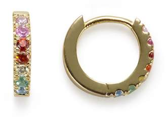 Stella and Bow Violet Hoops Gold
