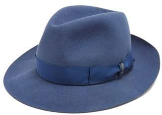 Borsalino Alessandria Medium Brim Felt Hat - Mens - Blue