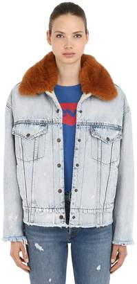 Levi's Oversized Trucker Jacket W/ Faux Fur