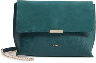 Ted Baker Lisa Bar Detail Suede & Leather Crossbody Bag
