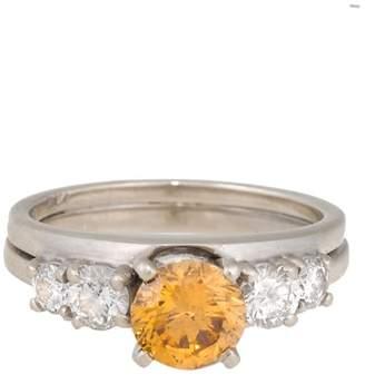 14K White Gold & 1.5ct. Diamond Wedding Ring Set Size 5.75