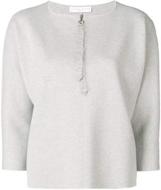 Fabiana Filippi zip detail 3/4 sleeve sweater
