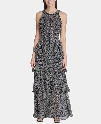 Tommy Hilfiger Tiered Paisley-Print Maxi Dress