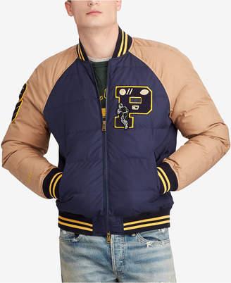 Polo Ralph Lauren Men Big & Tall Down Letterman Jacket