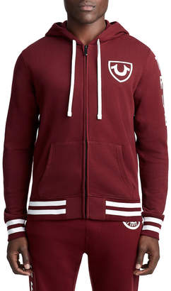 True Religion MENS COLLEGIATE CREST ZIP UP HOODIE