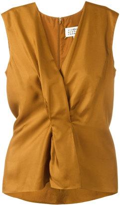 Maison Margiela pleated front sleeveless blouse