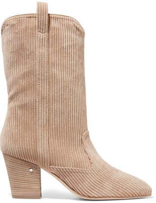Laurence Dacade Simona Corduroy Ankle Boots - Beige