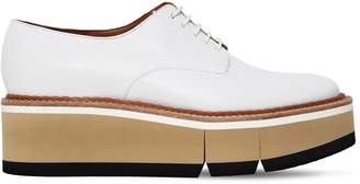 Robert Clergerie 60mm Barbara Leather Derby Wedge Shoes