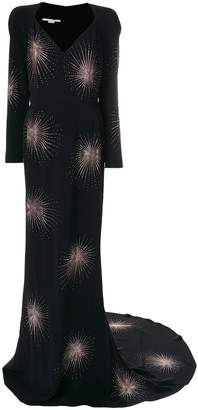 Stella McCartney crystal-embellished firework gown