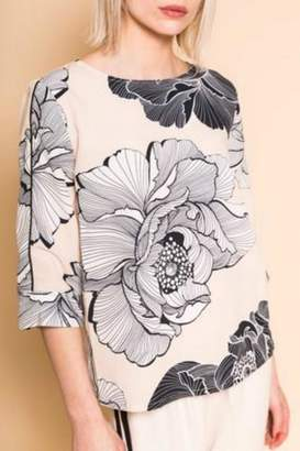 B.young Boxy Floral Blouse