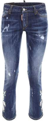 DSQUARED2 Jeans With Mirror Embroidery