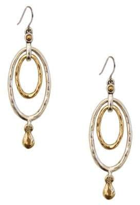 Lucky Brand Two-Tone Layered Drop Earrings
