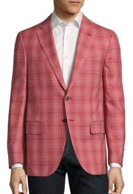 Isaia Regular-Fit Plaid Wool Jacket
