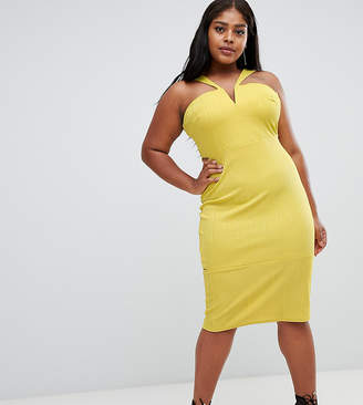 Asos Bandage Cut Out Bodycon Midi Dress