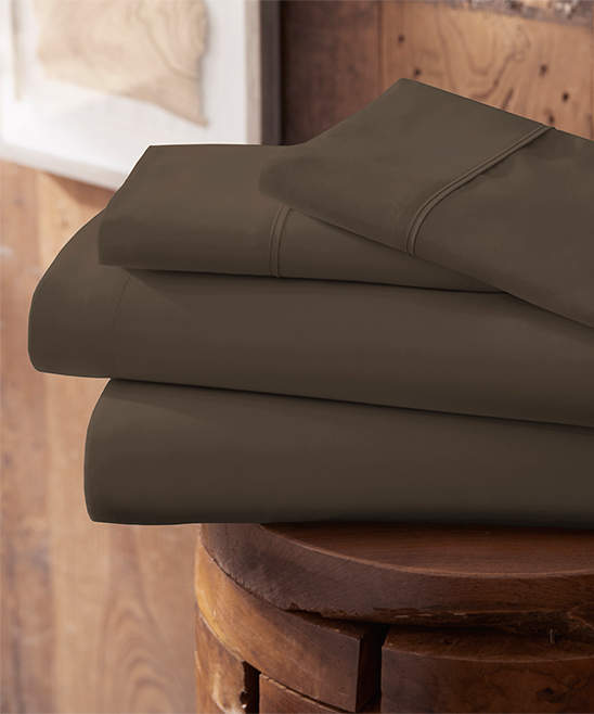 Chocolate Ultra-Soft Brushed Microfiber Sheet Set