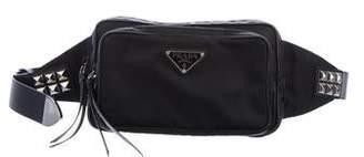Prada Tessuto Studded Waist Bag