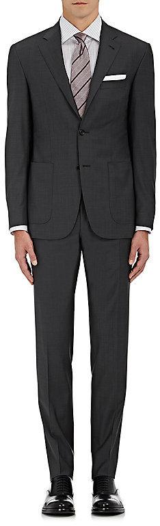CanaliCanali Men's Kei Wool Two-Button Suit-Grey, Dark grey