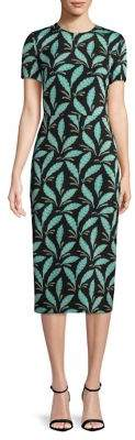 Diane von Furstenberg Print Midi Sheath Dress