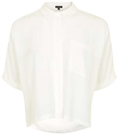 TopshopTopshop Short sleeve roll up shirt