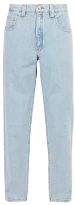 Perry Ellis Light Wash Straight Leg Jeans - Mens - Blue