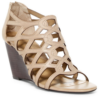 Adrienne Vittadini Alby Caged Wedge Sandal $99 thestylecure.com