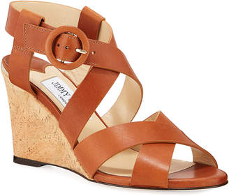 Jimmy Choo Domenique Buckle 85mm Sandals