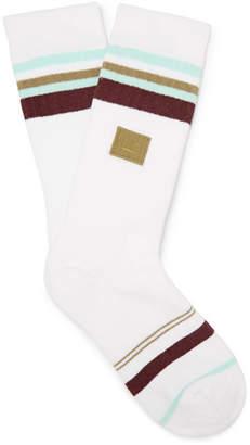 Acne Studios Striped Stretch Cotton-Blend Socks
