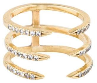 Jennifer Fisher 14K Diamond Triple Pin Ring