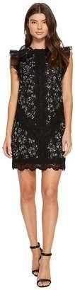 Rebecca Taylor Sleeveless Moonflower Embroidered Dress Women's Dress