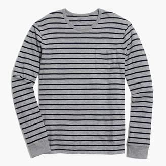 J.Crew Long-sleeve deck-striped textured cotton T-shirt