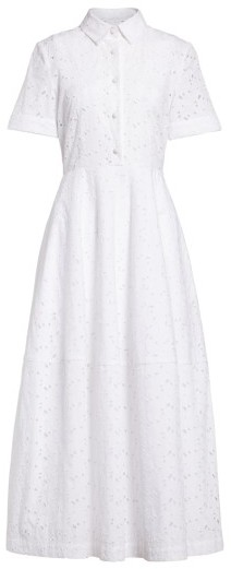 Women's Co Cotton Broderie Anglaise Shirtdress 2
