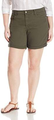 NYDJ Women's Plus Size Avery Jean Short in Colored Bull Denim