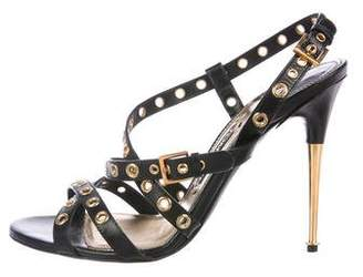 Tom Ford Grommet-Accented Leather Sandals