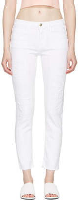 Frame White Le Boy Jeans